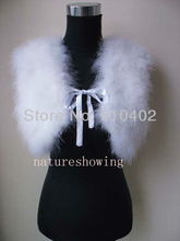 free shipping/Genuine Real ostrich feather fur  with lace  vest   new style / white2#
