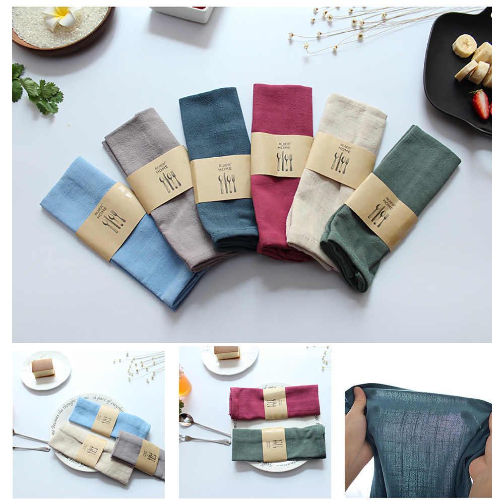 Table de mariage serviette coton linge tissu serviette mouchoir décoratif pour la maison de mariage fête cuisine tasse vaisselle lavage cuisine