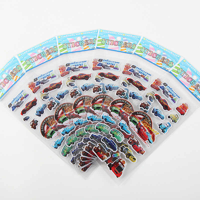 10 set cars Lighting McQueen Theme Can eliminates Cartoon cup Stickers Kids Bedroom Home cups Decoration supplies