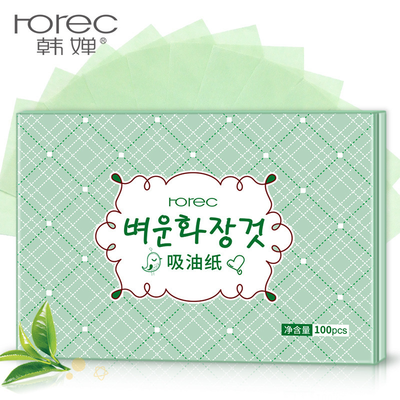 100PCS/Box Facial Oil Blotting Sheets Oil Absorbing Papers Oil Control Face Skin Care Tool For Man Woman