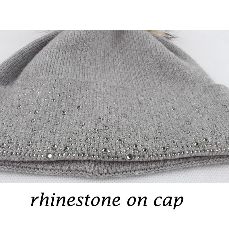 Mink iz rakunastega krznenega klobuka za ženske zimsko volneno - Oblačilni dodatki - Fotografija 3