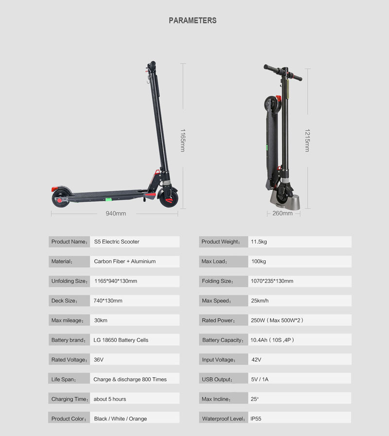 Best Dual Motors 2018 New Carbon Fiber Folding Electric Scooter Scooter Skateboard Bicycle Kick Scooter Powerful Electric Bicycle 9