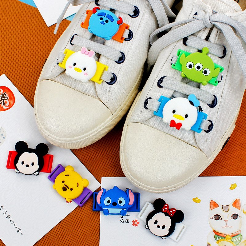 10 Pcs A Set Novelty Cartoon PVC Shoe Decorations Tsum Tsum Casual/Sports Shoe Shoelace Charms Accessories For Kawaii Gifts M427