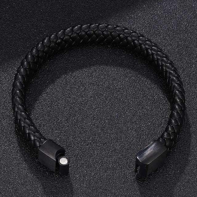 Bracelet Magnétique Santé Cuir