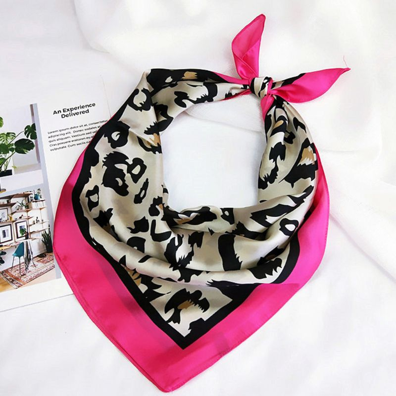 Women Retro 70x70cm Multifunction Polyester Silk   Scarf   Sexy Leopard Print Satin Square Small   Scarves     Wraps   Shawl Shawls