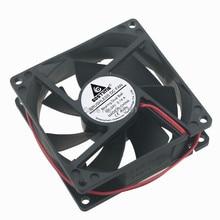 2 Pieces GDT Ball Bearing 8cm 80x80x25mm 24V 2Pin 8025B 80mm DC Cooling Fan
