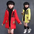 2016 New Girls Princess Children's Coat Winter Children Bear Children's Clothing Woolen Cloth Coat