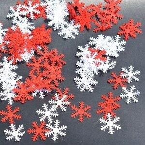 Image 1 - 100pcs เกล็ดหิมะคริสต์มาสต้นไม้/หน้าต่าง DIY แขวนเครื่องประดับไม่ทอ Confetti Xmas PARTY อุปกรณ์ตกแต่งโต๊ะ