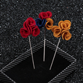 Handmade fabric flower brooch men wedding lapel pins/women broaches/broche/2016 new arrival korean fashion haute qualite jewelry