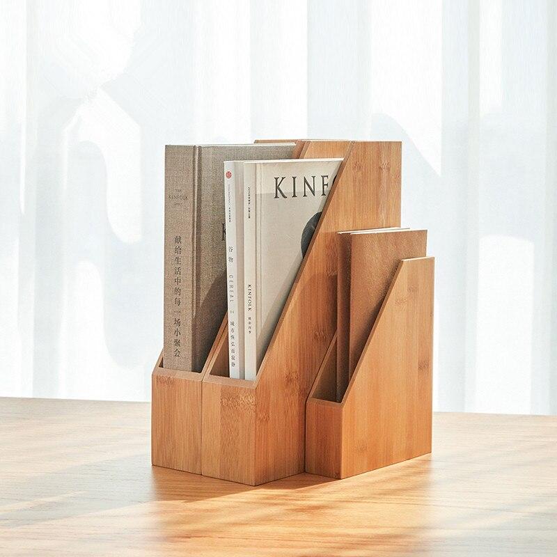 Bambu Rack Arquivo Japão Estilo Criativo Organizador de Mesa para Livros/Revistas A4 Titular Estande Papel Eco De Armazenamento De Madeira Natural caixa