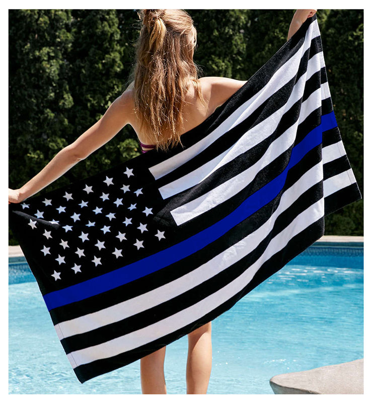 Flag 5 stars blue white dress.