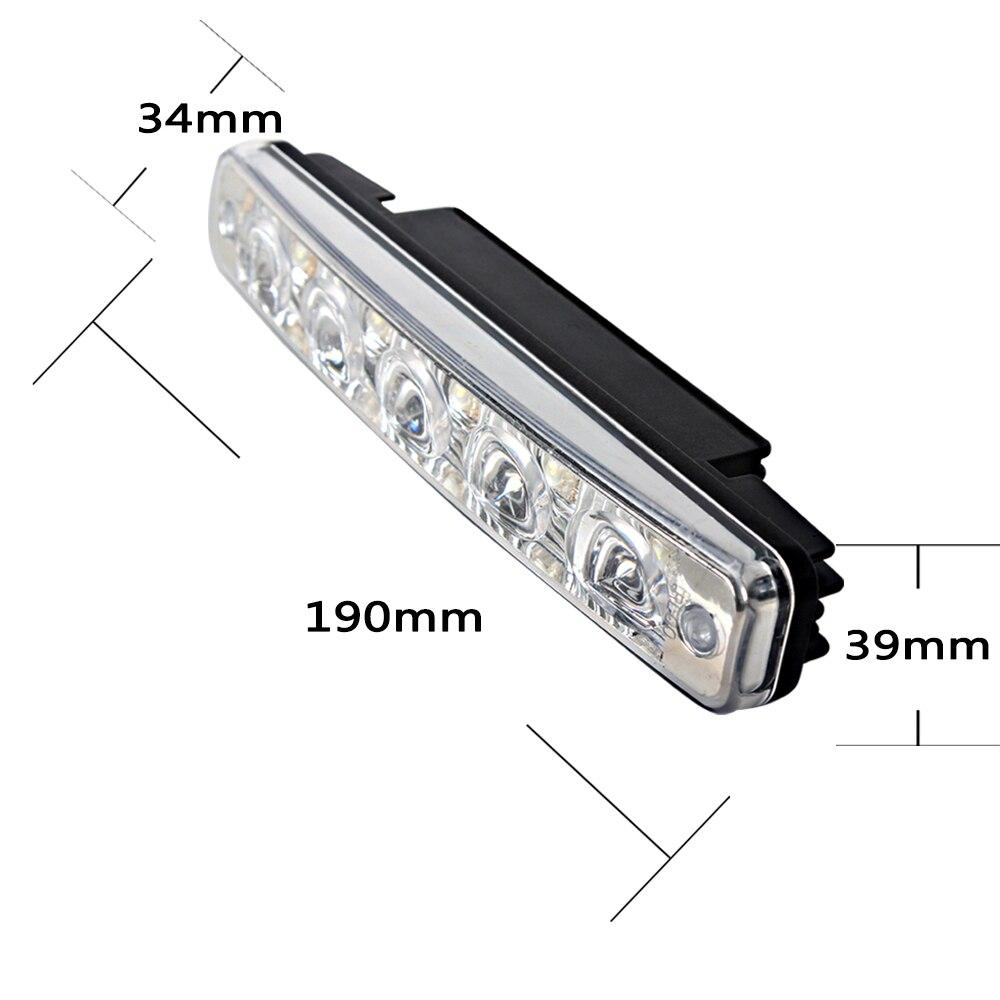 1 par LED-bil Körningsljus DRL Super Bright 5 LEDs Universal - Bilbelysning - Foto 5