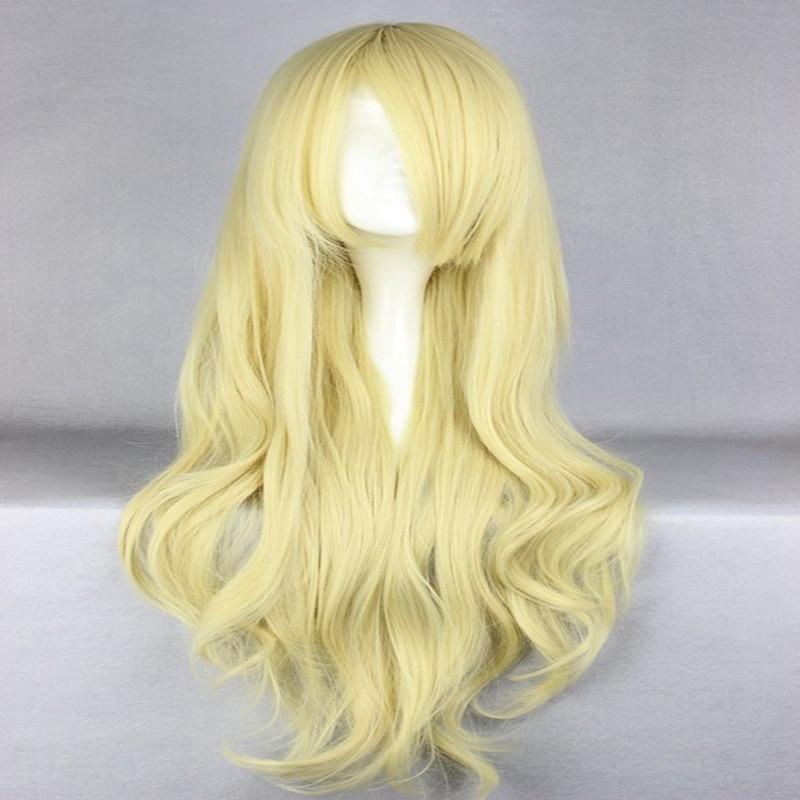 HAIRJOY Synthetic Hair Zipper 70cm Long Wavy Harajuku Lolita Cosplay Wig 18 Colors Available 104