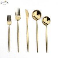 Uniturcky 30 шт. набор столовых приборов из чистого золота Европейской посуды Нержавеющаясталь Кухня Продукты набор столового серебра Ножи вил