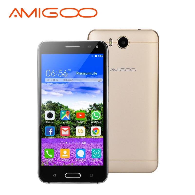 AMIGOO X18 Original Smartphone Android 5.1 MTK6580 Quad Core 512MB RAM 8GB ROM WiFi GPS 5.5 Inch Dual SIM 3G Unlock Mobile Phone
