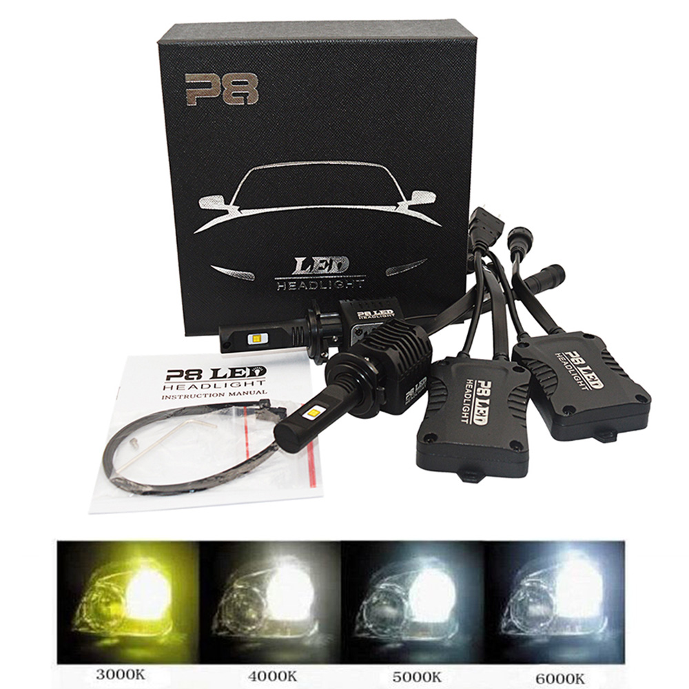 2x High Power P8 Car LED Headlight H7 bulb 80W 8000LM 4000K 3000K 6000K 5000K LED Headlamp Light Bulb H7 5000K LED 2x 30w 3600lm h1 led headlight bulb all in one led car headlights gen2s car led headlight cree eti 3000k 5000k 6000k blue pink