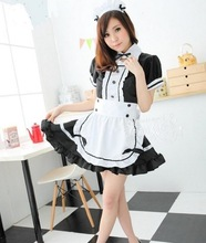 Cute Maid Costume For Women Coffee Maid Suit Maid Cosplay Sissy Maid Sexy Uniform Halloween Cosplay For Women Festival Clothing(China)