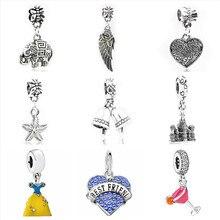2fa538cffbf2 Btuamb Maxi Europea campana ángulo ala amor corazón cristal colgante  cuentas Fit Pandora pulseras collares DIY