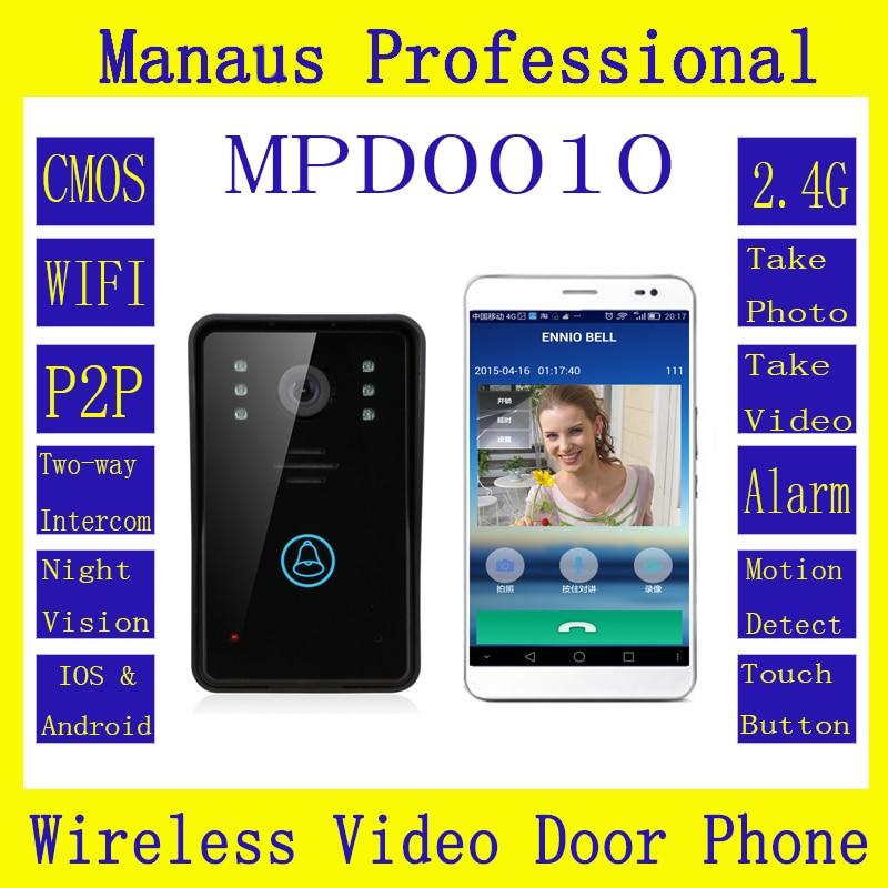 Hot Selling WiFi Wireless Video Door Phone  Intercom System IR Night Vision Home Improvement Visual Door Ring D10C