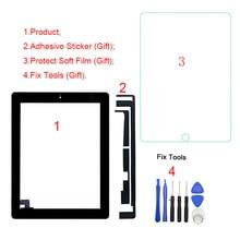 """Tela digitalizadora lcd touch screen, 1 peça, testado, para ipad 2 2nd gen a1395 a1396 a1397 9.7 """", digitalizador frontal painel de vidro de substituição"""