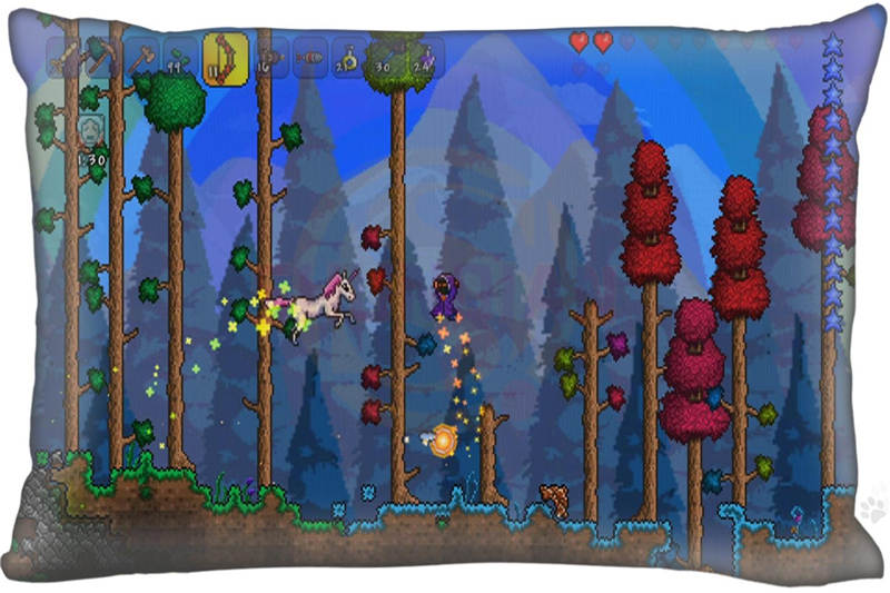 2016 New Classic game terraria Pillow Case 16x24 Inch Comfortable the best gift for your family High Quality Free Shipping