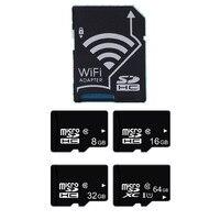 Wireless wifi SD card adapter+ micro sd card 32GB 16GB 8GB class10 wifi wireless MicroSD TF Card