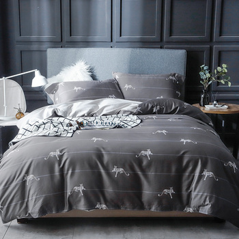 Luxury Egypt Cotton Printed Fashion Bedding Set High-quality Silky Duvet Cover bed Sheet pillowcases Queen King Size 4pcs