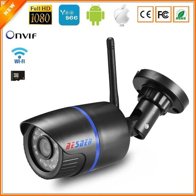 BESDER Yoosee Cámara cámara IP Wifi 1080 P 960 P 720 P ONVIF inalámbrica cable P2P CCTV bala al aire libre con cámara miscroSD ranura para tarjeta Max 64G