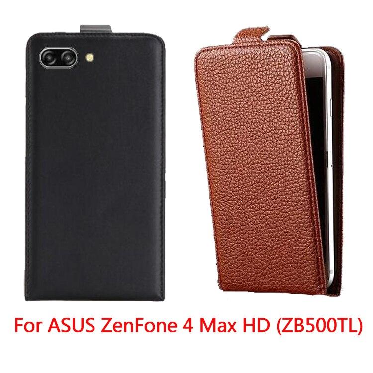 Nouveau étui de téléphone De Haute Qualité pour ASUS ZenFone 4 Max HD ZB500TL Housse Fundas Sac de Téléphone Portable Flip Up et Boîtier
