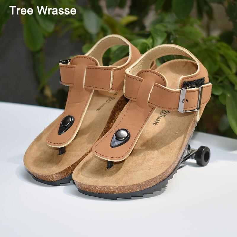 Sandalias para niños verano niño niña softwood zapatos árbol Wrasse zapatillas cool palabra arrastrada en la palabra drag tide sandalia sándwich