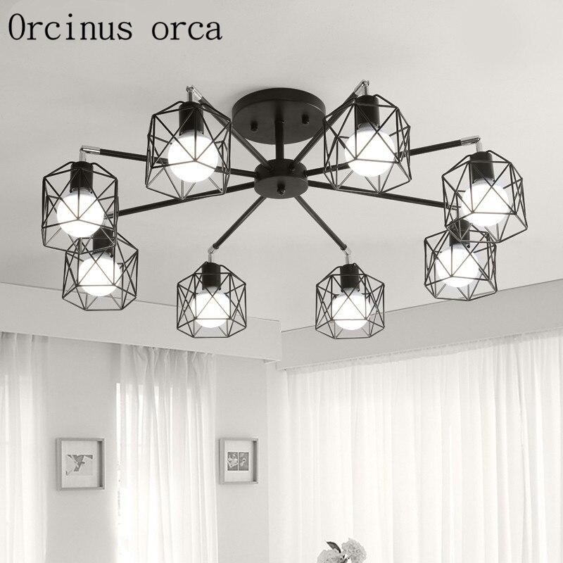 Moderní jednoduchá lampa osobnosti kreativní lampa do nordického obývacího pokoje v lustru