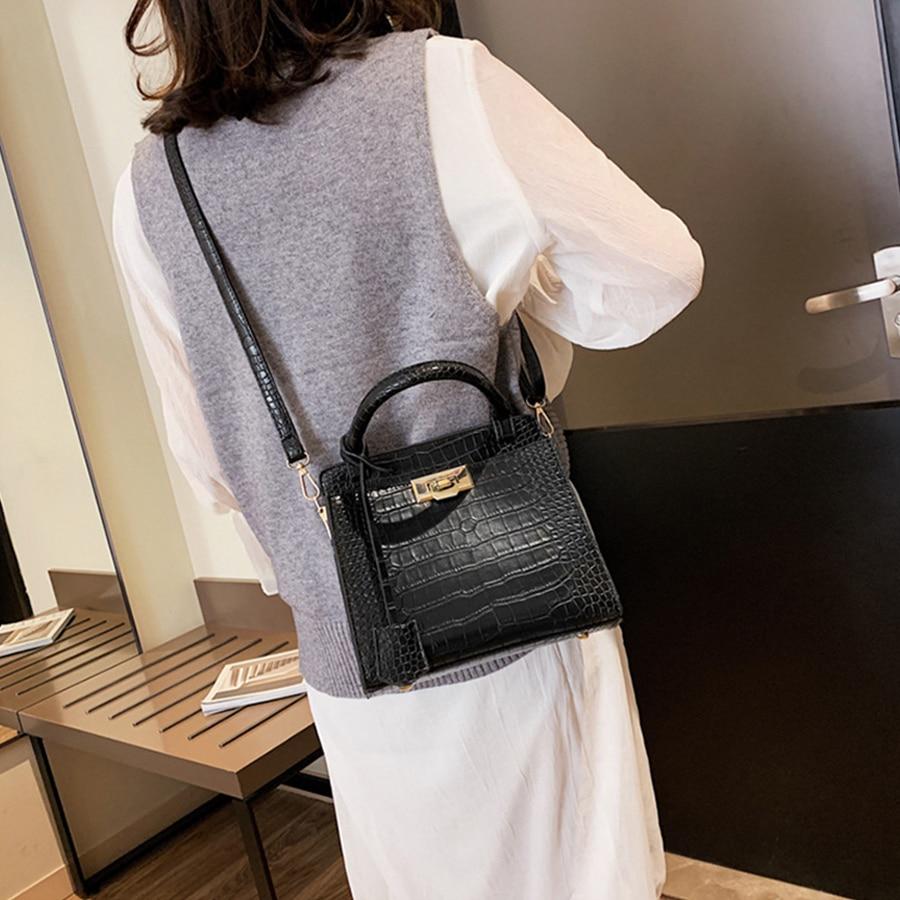 Luxury Women Handbag Purse Classic Alligator Pattern Pu Leather Messenger Bag Crocodile Solid Ladies Shoulder Crossbody Bag New