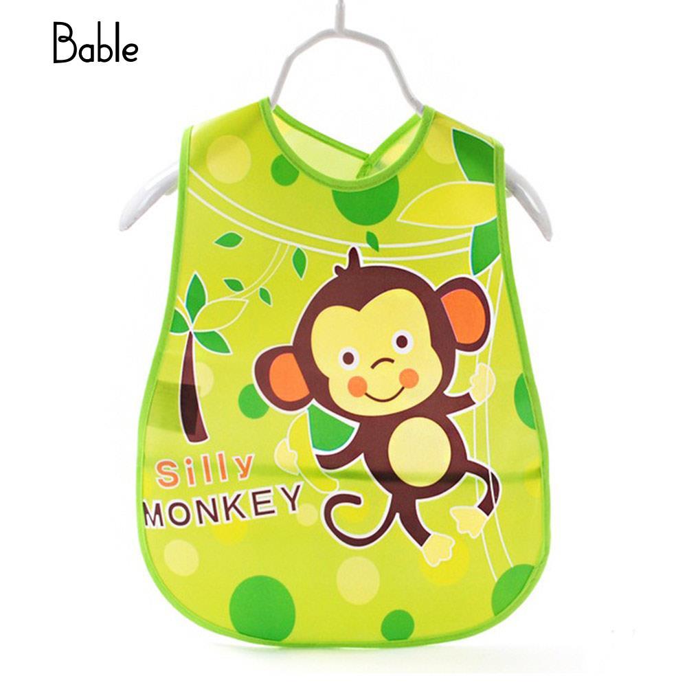 Newborn Waterproof Bib Adjustable Infant Waterproof Bib Water Proof Burp Cloth 6 Pattern Home Feeding Baby Waterproof Bib