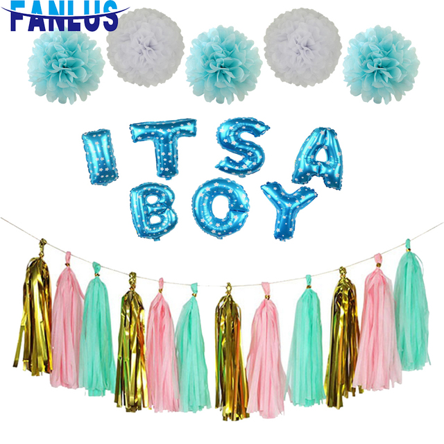 Baby Shower Party Decorations For Birthday Supplies Decoracion De Fiestas Y Eventos Paw Patrol Boy