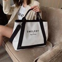 Новые модные холщовые женские сумки, большая вместительность, женская сумка через плечо, известный дизайнер, повседневная женская сумка-то...