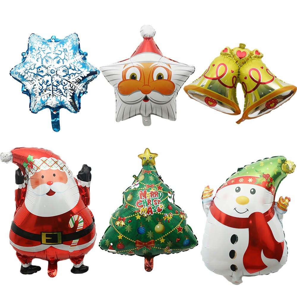 2pcs/lot cartoon Christmas tree foil balloons Santa Claus helium ...