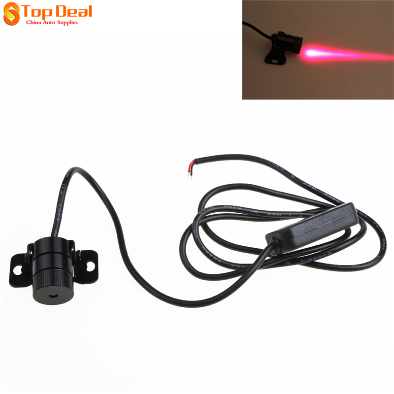 Car Laser Tail Fog Light of Rear-end Anti Collision Rearing Warning Light Safety Lamp car styling quadrangle anti collision rear end car laser tail 12v led car fog light auto brake lamp rearing car warning light