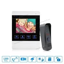 4 inch TFT Color Monitor 1200TVL Camera Video Door Phone Intercom Security Speaker System Waterproof IR Night Vision 1v1