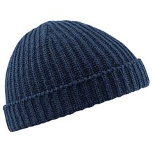 Fisherman Beanie Ribbed Hat Winter Warm Turn Up Retro Mens Womens Ladies Hat