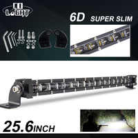 "CO LIGHT 6D 25.6"" 120W Led Light Bar 12V 24V Combo Led Beams Offroad Driving LED Bar Light for 4WD 4x4 Trucks Boat ATV Jeep SUV"