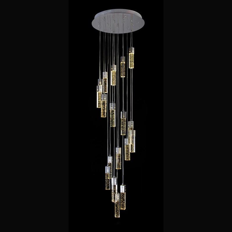Ceiling Hanging Pendant Lights Transparent Glass Crystal Pendant Light Modern Crystal Lighting led Pendant Light staircase Lamp modern led crystal pendant light hanging