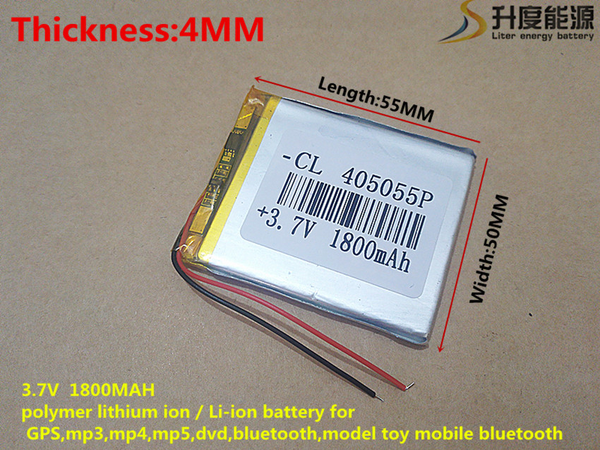 3.7V 1800mAh 405055 Lithium Polymer Li-Po li ion Rechargeable Battery cells For Mp3 MP4 MP5 GPS mobile The tablet battery mini mobile 1800mah lithium polymer power bank w keychain gold href