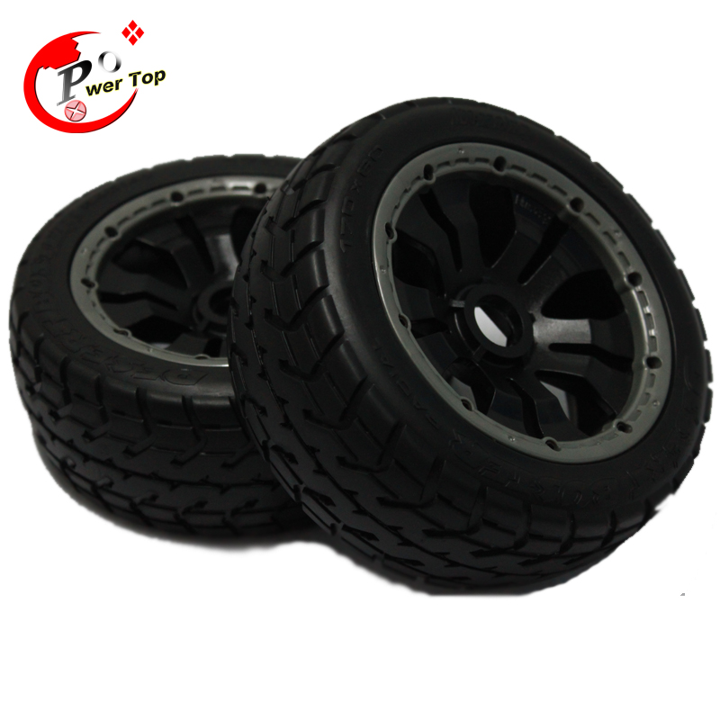 ФОТО King Motor Baja 5B On Road tire front completed set with posion rim Rovan