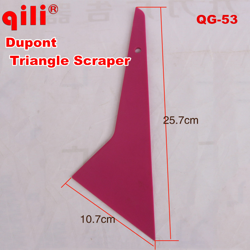 100 Pcs Dhl Free Qili Qg-53 Middle Triangle Dupont Scraper Tools Tint Scraper Tool Auto Home Office Window Film Installation Factories And Mines