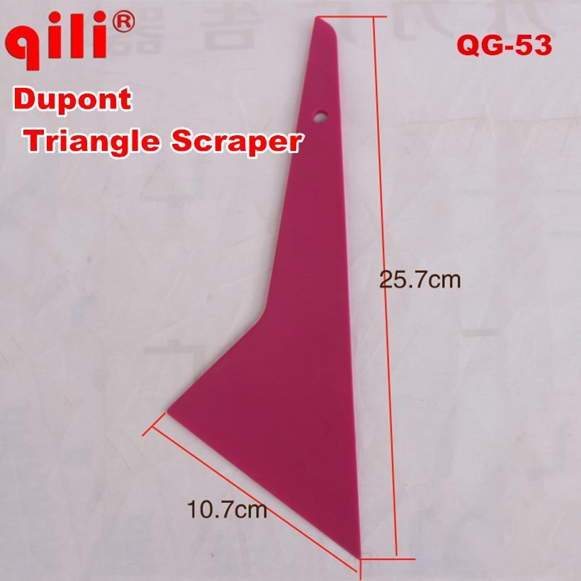 100 pcs DHL free QILI QG-53 Middle Triangle Dupont Scraper Tools Tint Scraper Tool Auto Home Office Window Film Installation