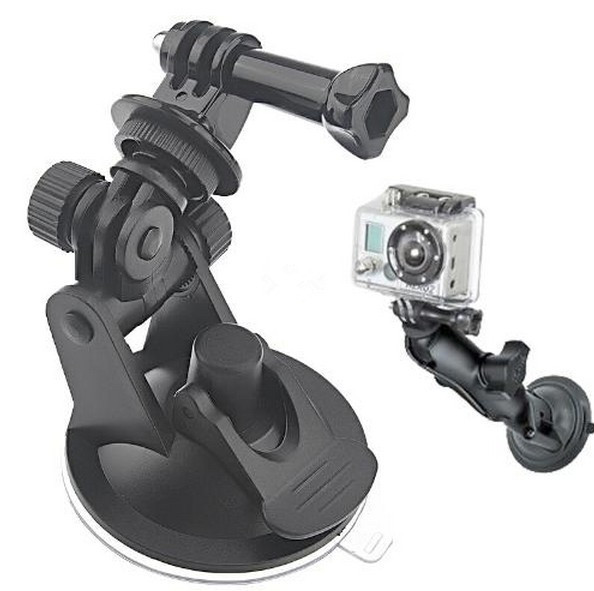 Go pro Accesorios Windshield Car Suction Cup Holder Tripod Monopod for GoPro Hero 4 3+ 3 SJCAM SJ4000 SJ5000 SJ6000 Xiaomi Yi