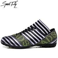 Speedfly Yeni Futbol Çizmeler Erkekler Çim Futbol Ayakkabı sneakers kadınlar futbol profilli boy Stripes çocuk ayakkabı için büyük boy 33-44 futbol