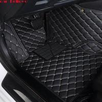 Автомобиль считаем Авто Пол коврик для ног Pajero Sport 4 Grandis Lancer Outlander XL 2017 2013 Автомобильные аксессуары водонепроницаемый ковер