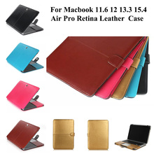 Premium Leather Smart Holster PU leather Bag Case Cover for Apple Macbook Air Pro Retina 11 12 13 15 inch macbook sleeve case