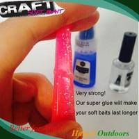 PVC Cleaner Cyanoacrylate Super Glue For Soft Fishing Lure Soft Bait Repair Kit
